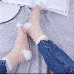 🆕 Polka Dot Glass Socks